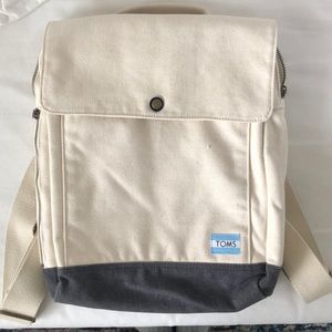 Adorable cotton Toms backpack!